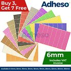 Adheso 6mm Coloured Dot Stickers Round Sticky Dots Adhesive Circles Labels