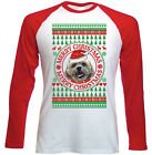 SHIH-TZU MERRY CHRISTMAS CIRCLE 21 - NEW RED SLEEVED TSHIRT