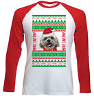 SHIH-TZU 1 REAL UGLY CHRISTMAS - NEW RED SLEEVED TSHIRT