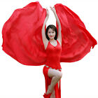 Solid Color Women Belly Dance Accessories 100 Silk Veil Scarf Shawl