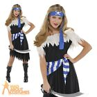 Teen Girls Pirate Costume Blue Caribbean Buccaneer Fancy Dress Outfit Book Week