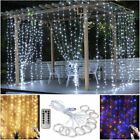 3M 300 LED Curtain Fairy String Lights USB Hanging Window Bedroom Wedding Decor