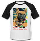 FRENCH BULLDOG SELFIE - NEW COTTON BASEBALL TSHIRT