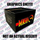 Arcade1up Cabinet Riser Mortal Kombat 2 II Graphic Sticker Decal Only фото