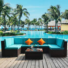 7pc Outdoor Rattan Wicker Sofa Set Sectional Couch Cushioned Furniture Patio