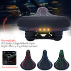 Bicycle Seat Cushion Saddle Shock-proof Sports Soft Front Seat Mat With Light SP