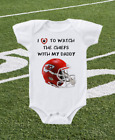 Kansas City Chiefs Onesie Shirt Helmet Design Love to Watch With Daddy on eBay