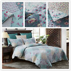 3 Piece King Size Quilt Set Blanket Bedspread w/ 2 Matching Pillow shams image
