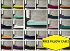 Polycotton 10'' Deep(25cm) Fitted Sheet in 28 COLOURS + FREE PAIR OF PILLOW CASE