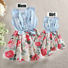 Summer Family Matching Dress Mother And Daughter Floral Maxi Dresses Outfits