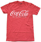 Coca Cola Logo It's the Real Thing Red Heather Men's Graphic T-Shirt New £12.45  on eBay