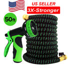 Garden Water Hose Expandable up to 50 ft with 10 way Nozzle & hanger