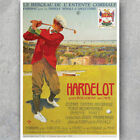 A3 A6 Vintage Golf Poster - HARDELOT BOULOGE - French Golfing Retro HQ Print