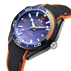 Men Automatic Self Wind Mechanical Canvas Rubber Strap James Bond 007 Style Oran $77.17 CAD on eBay
