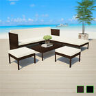 Vidaxl Patio Outdoor Rattan Wicker Couch Sofa Garden Furniture Table 2 Colors✓