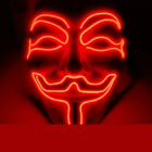 Face Mask Anonymous Hacker V for Vendetta Guy Fawkes Halloween Cosplay Head Mask