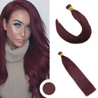 Ugeat 50g I Tip Stick Pre-bonded Human Remy Hair Extensions Deep Red Wine 99J# $49.89 USD on eBay