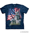 The Mountain Adult Unisex T-Shirt - Wolf Flag Mens Tee