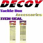 """DECOY TACKLE BOX ACCESSORIES INDENTIFICATION STICKER """"ITEM SEAL"""""""