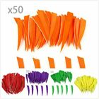 "50pcs 4"" Shield Turkey Arrow Feathers Fletchings Carbon Wood Bamboo Arrows Vane"