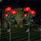 Waterproof Solar Rose Lamp LED Light Courtyard Garden Lawn Outdoor Party Decor