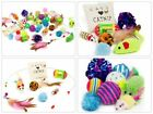 14Pcs Pet Cat Toys Set Bulk Mice Balls Catnip Pet Kitty Kitten Play Ball Toy New