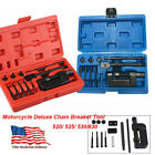 Motorcycle Deluxe Chain Breaker Tool Kit Cutter Rivet 520/525/530/630 Pitch ATV image
