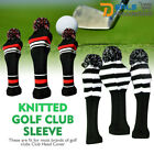 Wool Knit Fairway Wood Head Covers Golf Club Headcover Replacements 3pcs/set