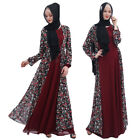 Dubai Abaya Lady Chiffon Floral Cardigan Muslim Long Maxi Dress Kaftan Arab Robe