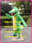 Crocodile Mascot Costume Suit Cosplay Animal Party Fancy Dress Outfit Adult Size