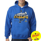 St Louis Blues Champions Stanley Cup 2019 Pullover Hoodie Blue Full Size S-2XL $34.99 USD on eBay