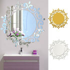 New 3d Feather Mirror Wall Sticker Room Decal Mural Art Diy Home Decoration