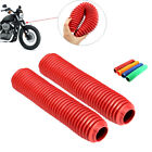 2PCS 360MM Fork Dust Covers Gaiters Boots Shock Rubber For Motorcycle Dirt Bikes