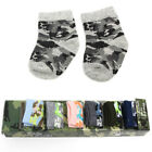 7 Pairs Newborn Baby Girls Cartoon Print Cotton Socks Infant Toddler Kids Socks