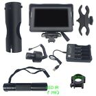 "4.3"" Display LCD 200M Night Vision Scope Lens 38-45 Rifle Scope Monitor IR Torch"