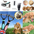 Pet Dog Cat Grooming Shedding Comb Hair Dematting Trimmer Rake Knot Cutter Brush