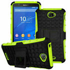 For Sony Shockproof Rubber Armor Protector Phone Case Hybird Tough Stand Cover