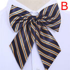 Women Bowties Striped Bow Ties Silk Tie Bow Tie Butterfly Neck Wear Collar neKH