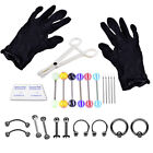 Complete Body Piercing Kit 16PCS Jewelry Needles For Ear Belly Tongue Body Tools