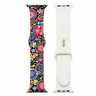 Flower Floral Silicone Sport Band For Apple Watch 4 3 2 1 38mm 40mm 42mm 44mm