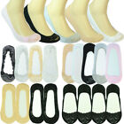 3-12 Pairs Womens No Show Lace Nonslip Invisible Flat Liner Loafer Boat Socks