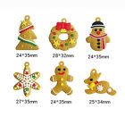 Gingerbread Man Christmas Ornaments Deer Snowman Tree Pendants Party Decors BL3