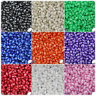 BeadTin Pearl 9mm Oat Plastic Beads 500pcs - Color choice