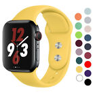 Silicone strap band for Apple Watch 42mm 38mm 44mm 40mm Rubber image