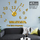 Whatever I'm Late Anyway Large Numbers DIY Wall Clock  Inspirational Quote Art