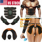 Electric Muscle Toner EMS Simulator Wireless Toning Belt ABS Butt Trainer USA image