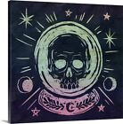 Mystical Halloween Jewel III Canvas Wall Art Print, Skulls & Bones Home Decor