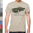 Mercedes R107 SL 450 SOFT Cotton T-Shirt Multi Colors&Sizes 350 500 560 image