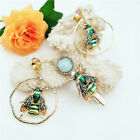 Women Drop Earrings and Hairpins for Party Jewelry Dress up - Green Inxsect