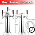 Draft Beer Tower 2/3 Faucet Kegerator Home Beer Machine for Outside/Inside Party